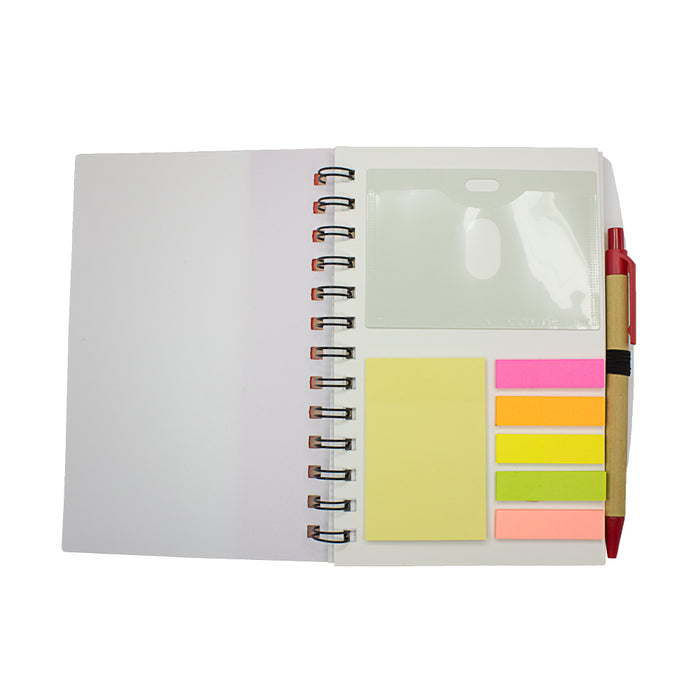 Ruler Notebook with Sticky Notes & Pen 1