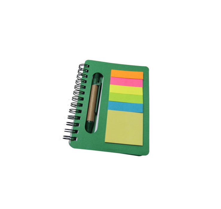Notebook with memopad & ballpen