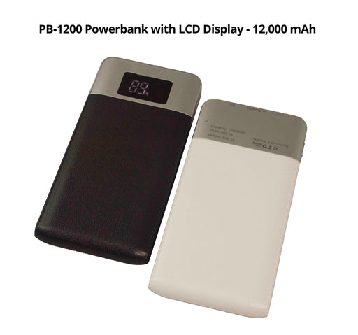 12,000 mAh Powerbank with LCD Display