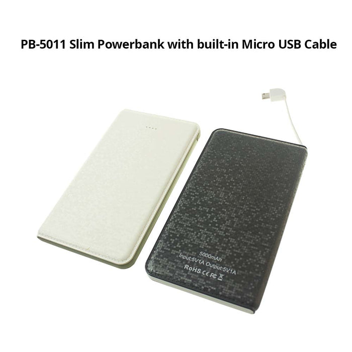 2,500mAh Powerbank with built-in Micro USB