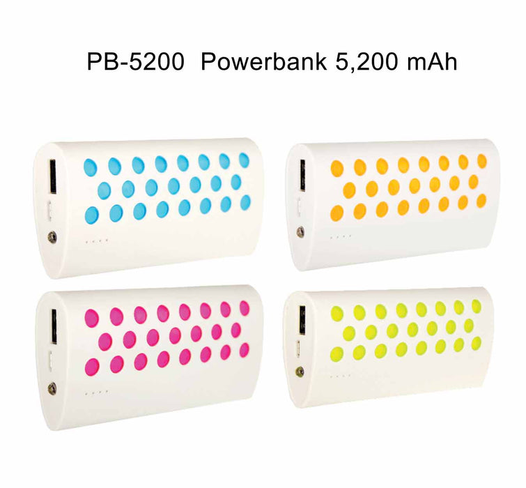 5,200mAh Powerbank