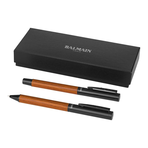 Woodgrain Duo Pen Set