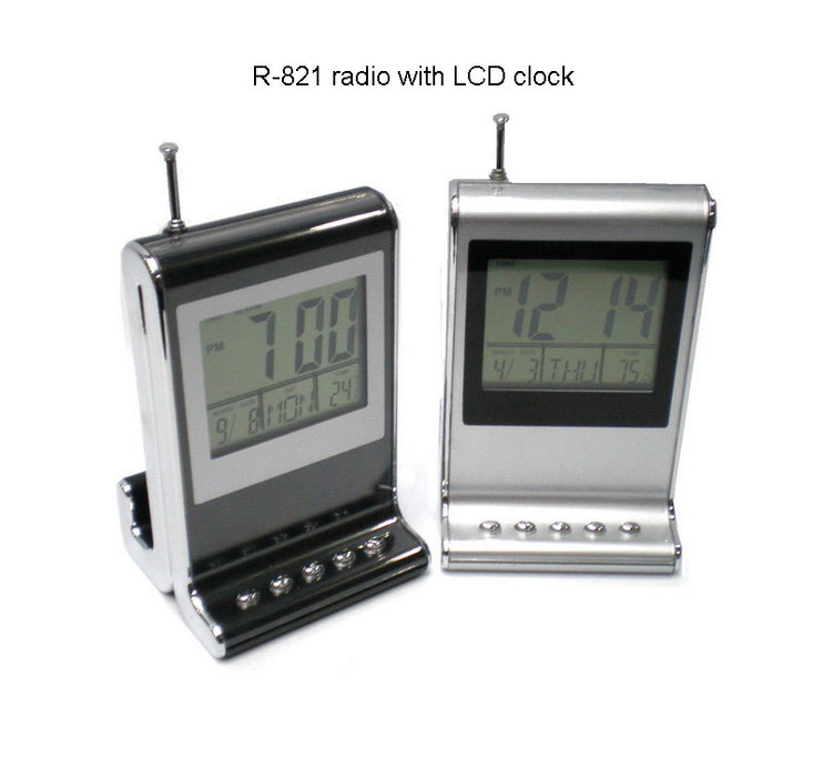 Radio with LCD Clock