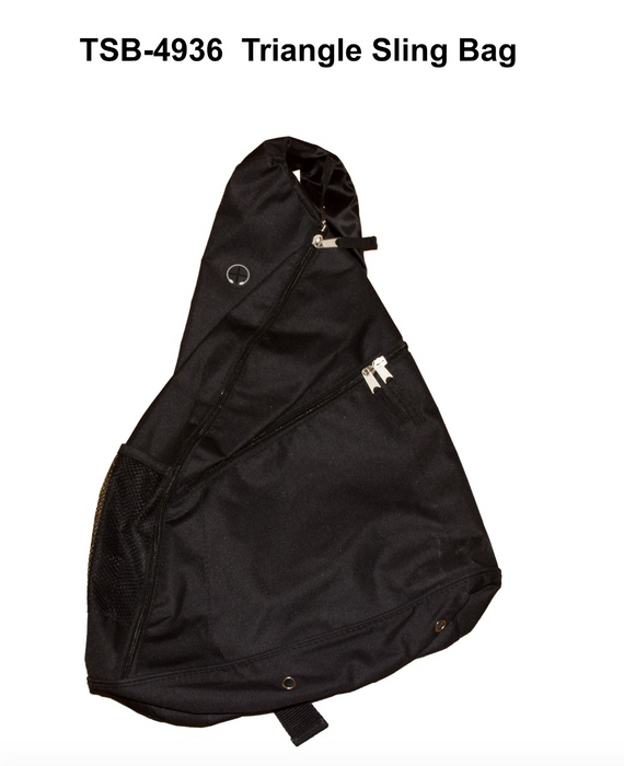 Triangle Sling Bag with 2 zip layers