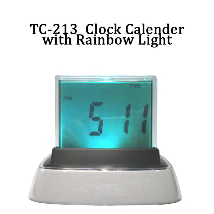 Clock Calendar with Rainbow Lite