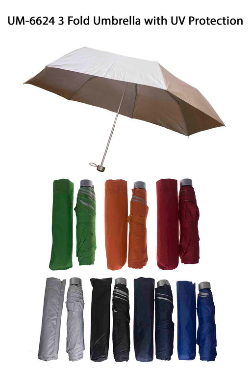Three Fold Umbrella with UV Protection