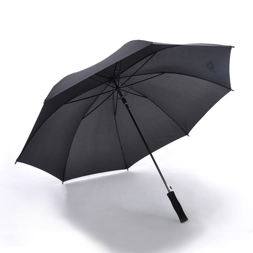 Full Black Straight Handle Umbrella