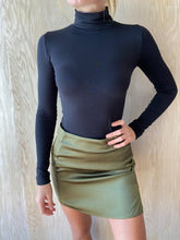 Load image into Gallery viewer, Olive Silk Skirt