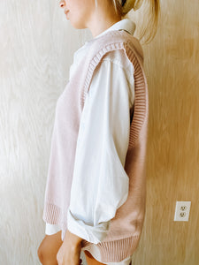 Blush Sweater Vest