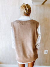 Load image into Gallery viewer, Taupe Sweater Vest