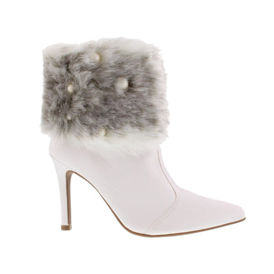 Vizzano 3049-221 White Fluff Ankle Boots Brisa Shoes