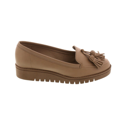 Beira-Rio 4174-325 Beige Loafers Brisa Shoes