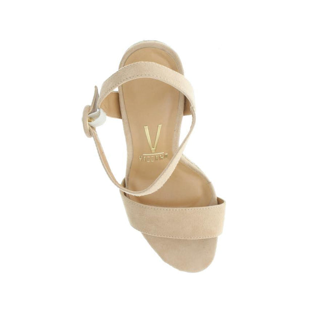 Vizzano 6383-100 Beige Thick Heel Rope Sandals Brisa Shoes