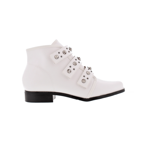 Beira-Rio 9055-104 White Ankle Boots Brisa Shoes