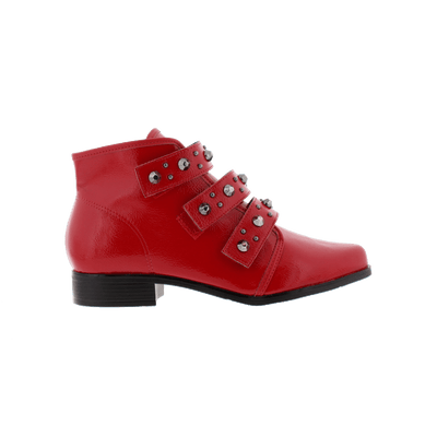 Beira-Rio 9055-104 Red Ankle Boots Brisa Shoes