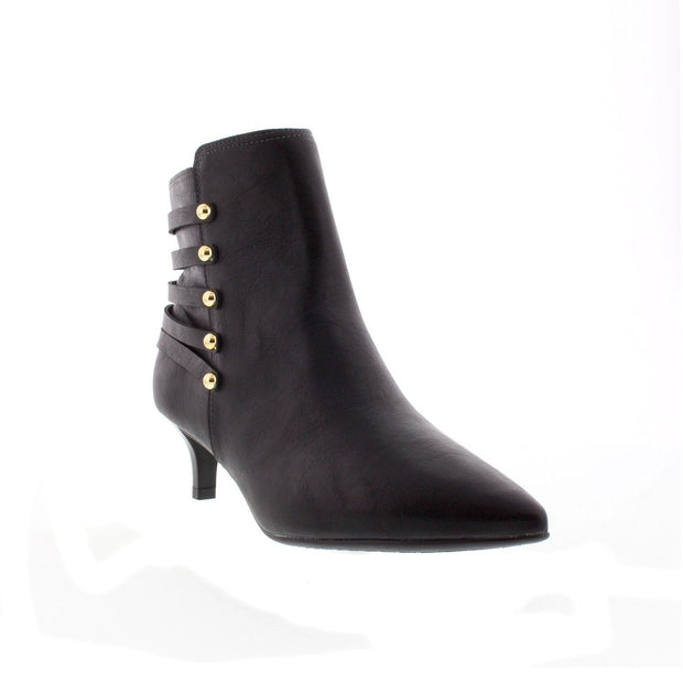 Beira Rio 9060-103 Black Kitten Heel Ankle Boots Brisa Shoes