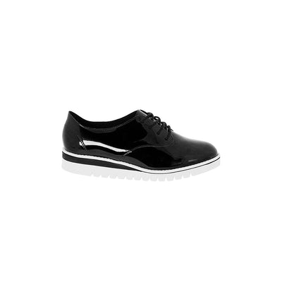 Beira Rio 4174-719 Black Brogue Flats Brisa Shoes