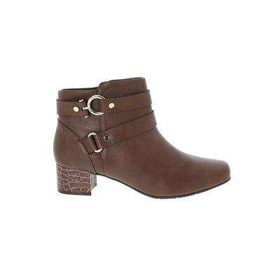 Modare 7060-107 Brown Block Heeled Ankle Boots Modare