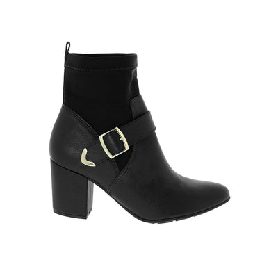 Modare 7063-102 Black Block Heeled Ankle Boots Modare