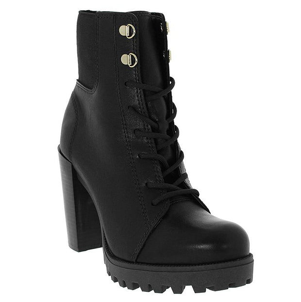 Moleca 5325-108 Black Block Heeled Ankle Boots Moleca
