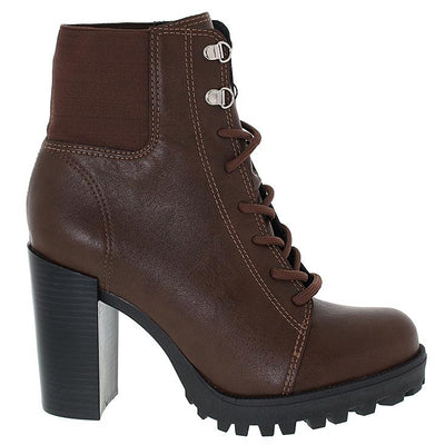 Moleca 5325-108 Brown Block Heeled Ankle Boots Moleca