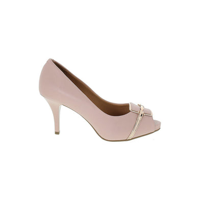 Vizzano 1781-467 Pink and Rose Gold Peeptoes Brisa Shoes