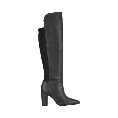 Vizzano 3068-102 Black Block Heeled Long Boots Vizzano