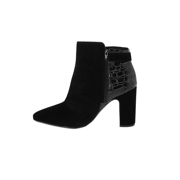 Vizzano 3068-106 Back Block Heeled Ankle Boots Vizzano