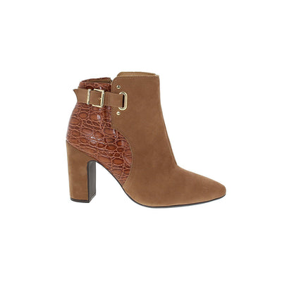 Vizzano 3068-106 Brown Block Heeled Ankle Boots Vizzano