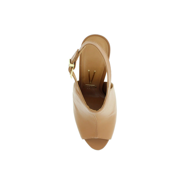 Vizzano 6398-102 Camel Strapped Peeptoes Brisa Shoes