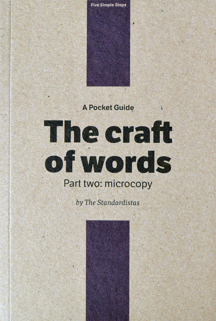 Book: Pocket Guide - The craft of words. Part two: microcopy