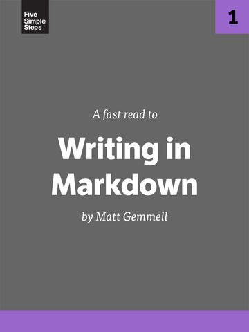 Book: Fast Read - Writing in Markdown