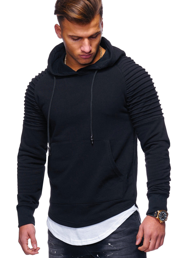 Men's 2in1 Biker Hoodie Black 1156