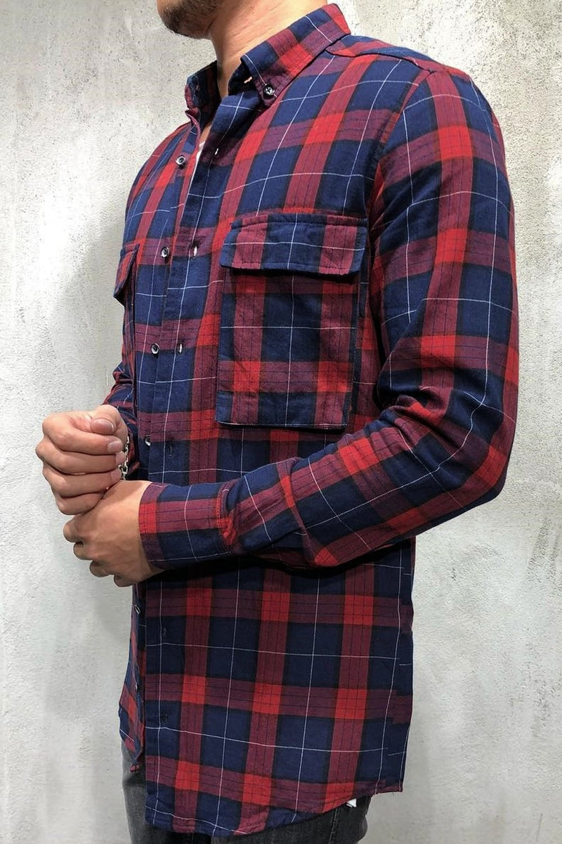 Men's Oversize Shirt Red 1000