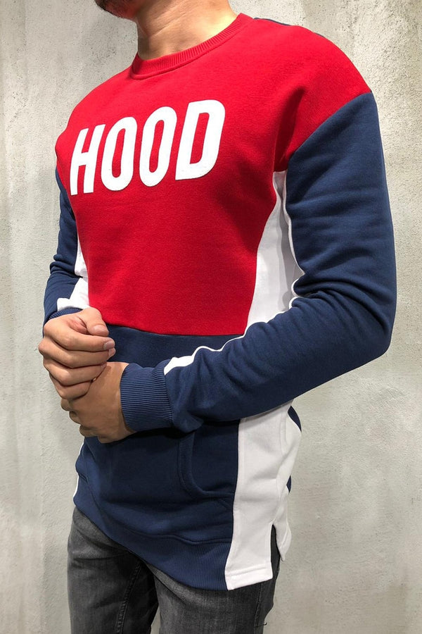 Sweater Navy/Red 8011