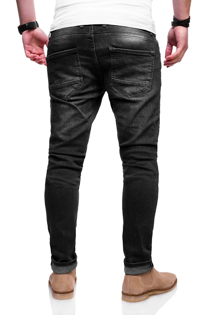 Men's Denim Slim Fit Jeans Black 3502