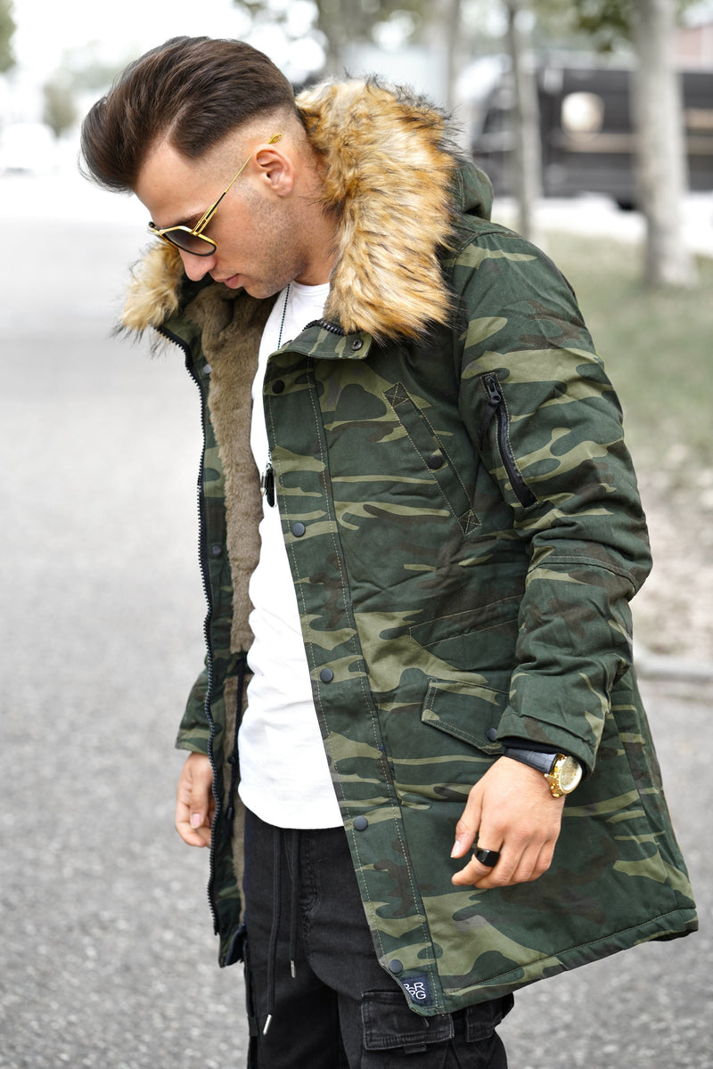 Men's Winter Parka Jacket Camouflage PH-1628