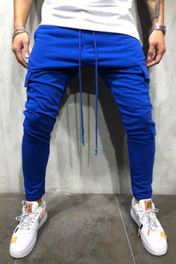 Track Pants Cargo blue 5062