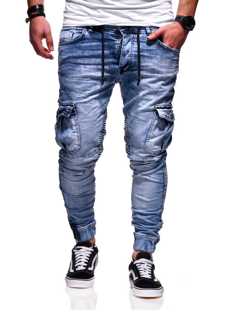 Men's Jogger-Jeans Biker Lightblue 3207-S