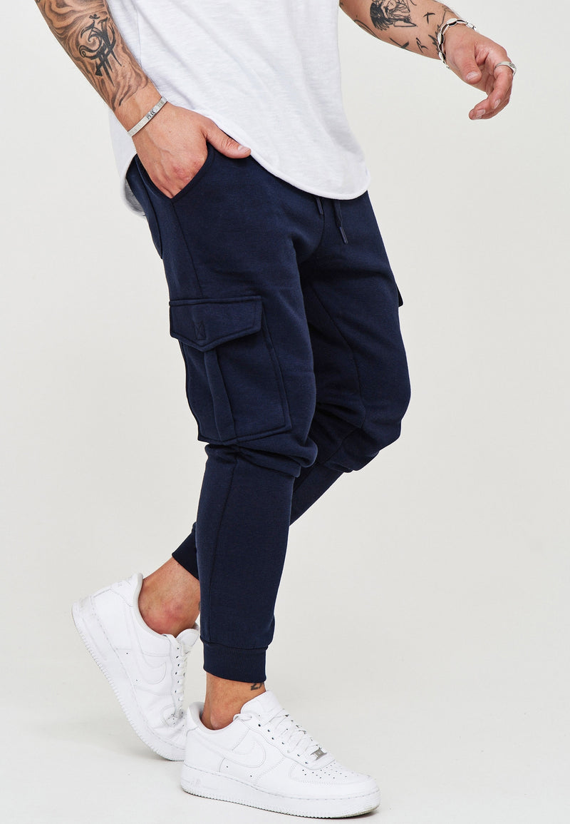Cargo Track Pants Navy T-31