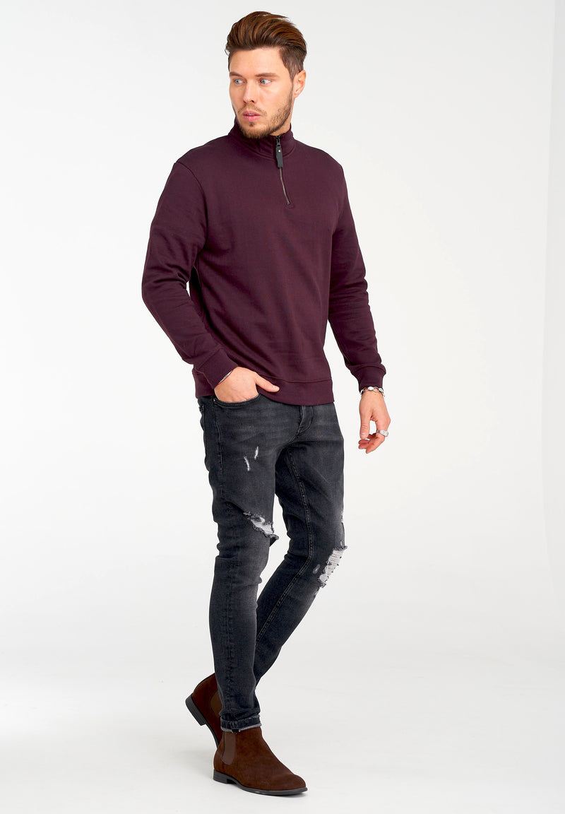 Troyer Sweatshirt 1/4 Zip 21843 winered