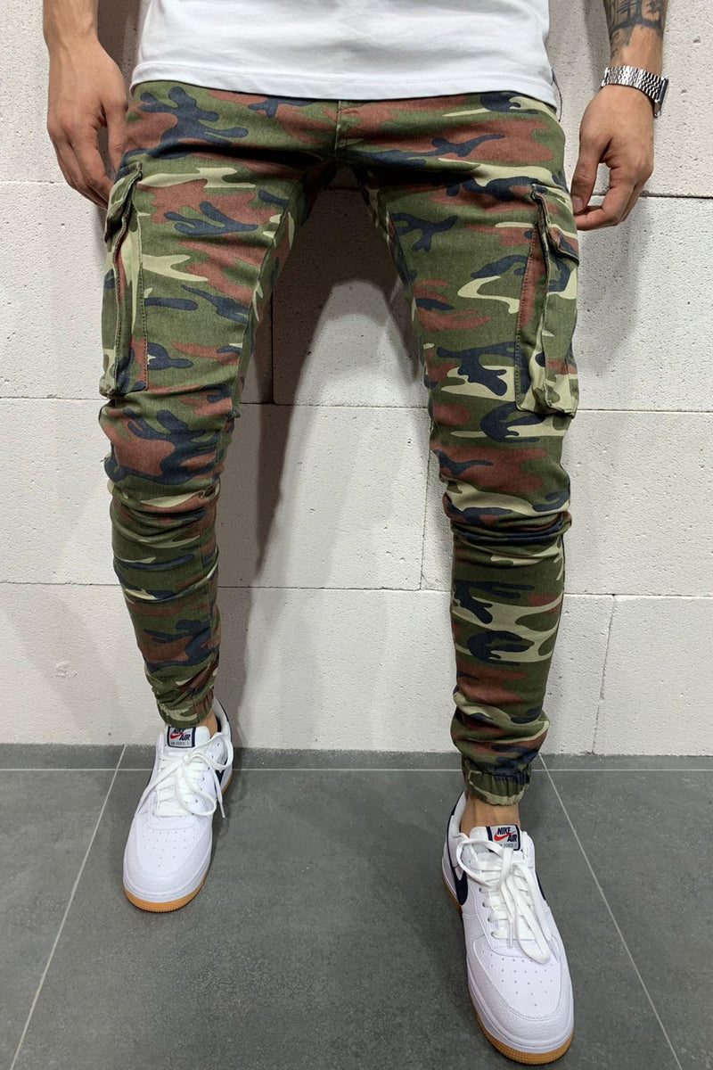 Men's Cargo Jogger Pants Camouflage B4417
