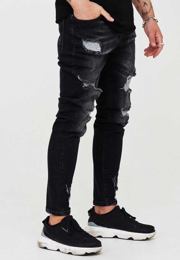 Destroyed Jeans black 3667