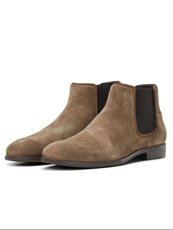 Men's Jack & Jones Boots Cheshire Suede Toffee - Brown