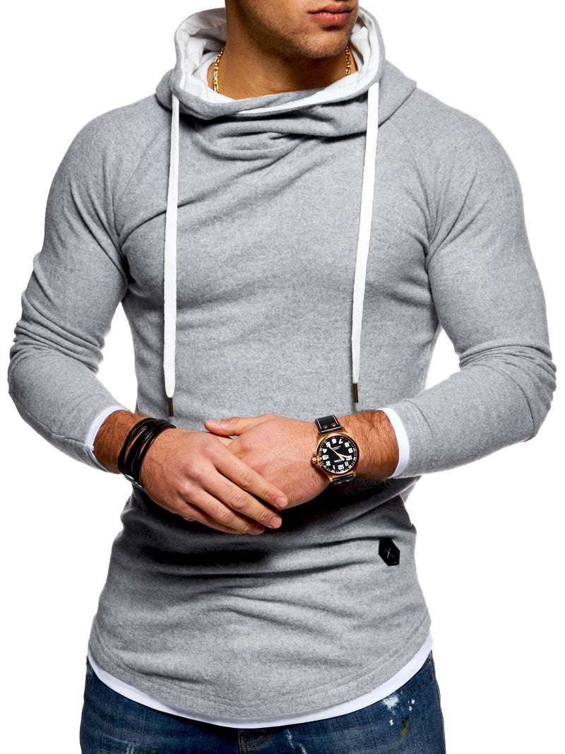 Men's Sweater Jumper Hoodie Sweatshirt Oversize Grey 7431