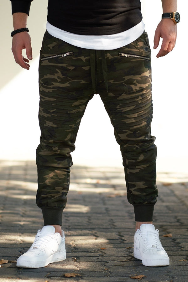 Men's Biker Track Pants Sweatpants Camouflage 2092