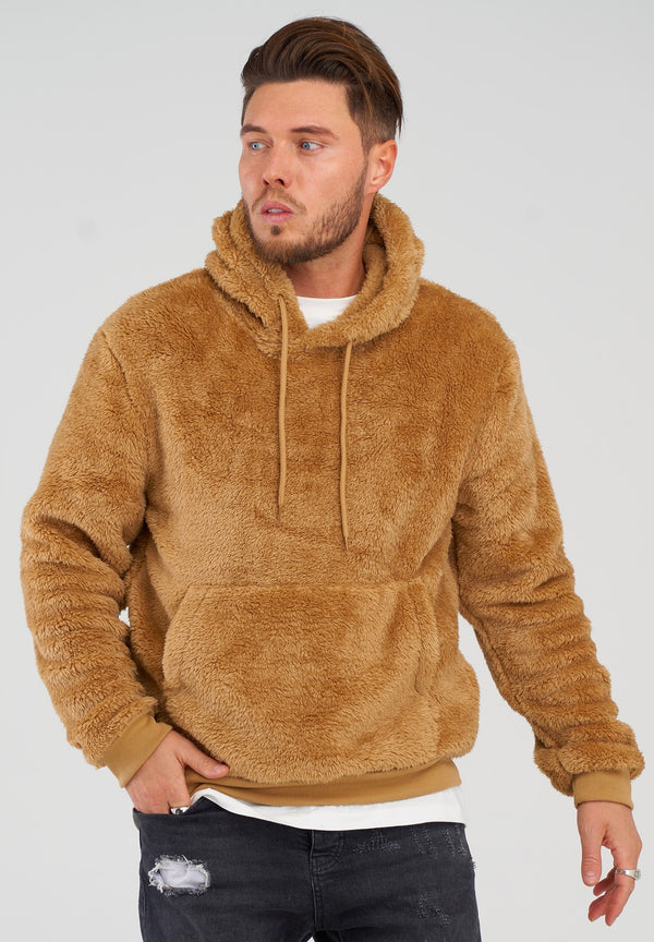 Teddy Fleece Hoodie MT-7450 brown