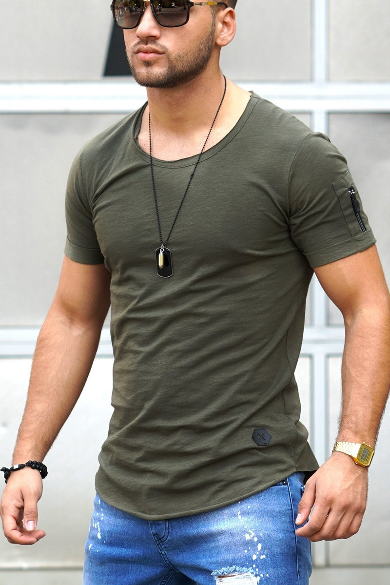 Men's Oversize Muscle Tee Green/Military 7117