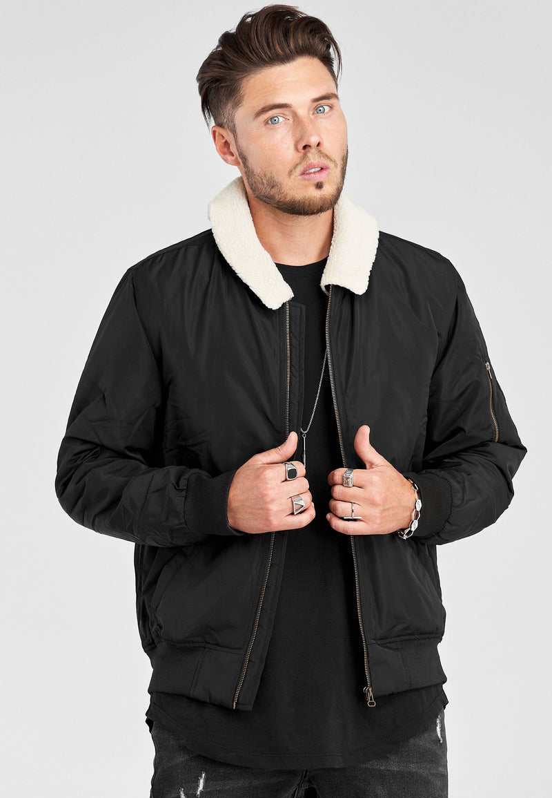 Bomber jacket MA1 Black MT-6202