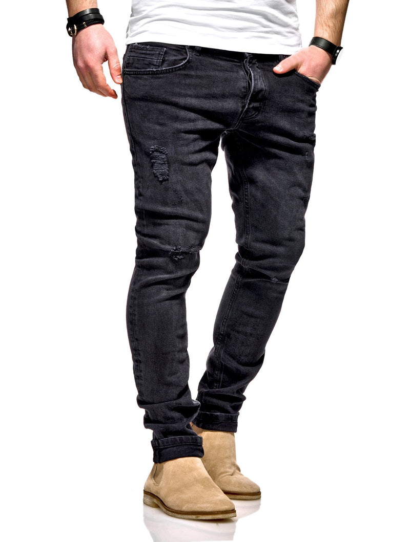 Men's Denim Slim Fit Jeans Black 100
